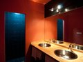 Modern bathroom view of colorful Royalty Free Stock Photography