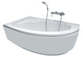 Modern bathtub with shower Royalty Free Stock Photo