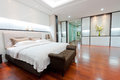Modern bedroom interior the home Stock Image