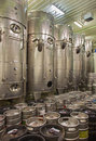 Modern big cask for the fermentation bratislava slovakia january indoor of wine manufacturer great slovak producer Stock Image