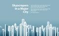 Modern big city. vector illustration