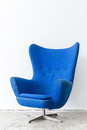 modern Blue Chair Royalty Free Stock Photo