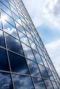 Modern blue glass wall of skyscraper Royalty Free Stock Image
