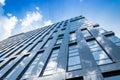 Modern blue glass wall of skyscraper Royalty Free Stock Photo