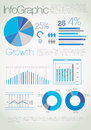 Modern blue infographic Royalty Free Stock Image