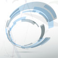Modern blue round abstract design element clip art Royalty Free Stock Photos