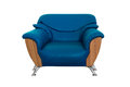Modern blue sofa Stock Photography