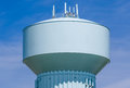 Modern Blue Water Tower Royalty Free Stock Photo