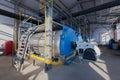 Modern boiler room equipment in the of technopark Stock Images