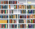Modern bookshelf Royalty Free Stock Image