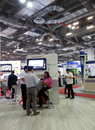Modern booth design in exhibition communicasia Royalty Free Stock Photos