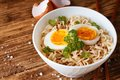 Modern bowl full of chinese noodles Royalty Free Stock Photo