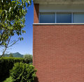 Modern brick house Stock Photo