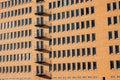 Modern brickwall facade in Hamburg Royalty Free Stock Photo