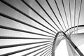 Modern bridge architecture at Putrajaya (Black and white) Royalty Free Stock Photo