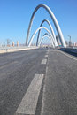 Modern bridge the clouse up of beizhonghuan in taiyuan city shanxi china Stock Photo