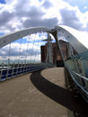 Modern Bridge in Manchester Quay Stock Photo