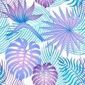 Modern bright summer strelitzia pattern