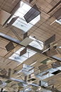 Modern building ceiling Stock Images