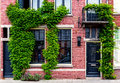 Modern building covered with green ivy Royalty Free Stock Photo