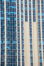 Modern building glass blue window vertical Royalty Free Stock Image