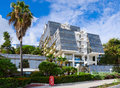 Modern building Hotel Plaza 3 * on promenade, Herceg Novi, Monte Royalty Free Stock Photo