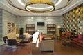 Modern building lobby lounge Royalty Free Stock Photo