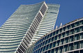 Modern building: new palazzo Lombardia in Mila Royalty Free Stock Images