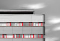 Modern building with red windows Royalty Free Stock Photo