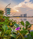 Modern building sunrise putrajaya vi architecture and at lake malaysia Stock Photography