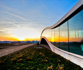 Modern Building And Sunset Royalty Free Stock Images