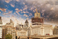 Modern Buildings and Architecture of London in Autumn Stock Photos