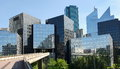 Modern buildings in the business district of la defense to west paris france Royalty Free Stock Photos