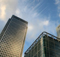 Modern buildings in Canary Wharf, London Royalty Free Stock Photography