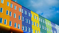 Modern buildings colorful brick tiles facades amsterdam netherlands Royalty Free Stock Photo