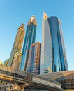 Modern buildings in Dubai Royalty Free Stock Photo