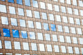 Modern buildings effect geometric background reflecting mirrors repeated cells Royalty Free Stock Photography