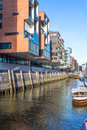 Modern buildings at hamburg hafencity district Royalty Free Stock Photos
