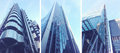 Modern buildings in london city collage of office or residential the Royalty Free Stock Image