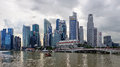 Modern buildings at marina sand bays in singapore Stock Photography