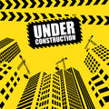 Modern Buildings and office glass Under construction silhouettes Royalty Free Stock Photo