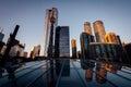 Modern buildings reflecting in glass in downtown toronto ontari ontario Stock Photos
