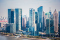Modern buildings in shanghai financial district Royalty Free Stock Photo