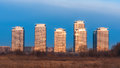 Modern buildings in the suburbs of Bucharest Royalty Free Stock Photo