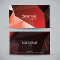 Modern business card. Royalty Free Stock Photo