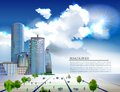 Modern business centre illustration city collection Royalty Free Stock Photo