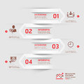 Modern business infographics arrow background. Royalty Free Stock Photo