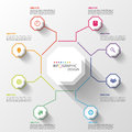 Modern business Infographics Octagon. Vector illustration Royalty Free Stock Photo