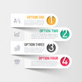 Modern business infographics template illustration Stock Images