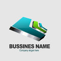Modern business logo design Stock Photo